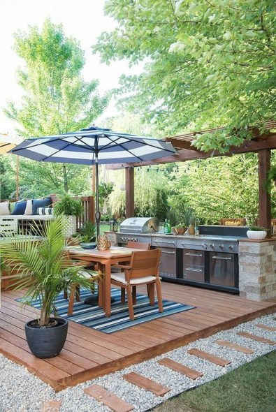 Brilliant Outdoor Kitchen Design Ideas For You Nowaday34