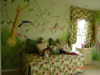 Charming Kids Bedroom Ideas With Jungle Theme To Try13