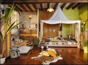 Charming Kids Bedroom Ideas With Jungle Theme To Try14