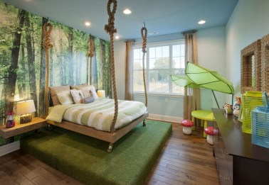 Charming Kids Bedroom Ideas With Jungle Theme To Try26