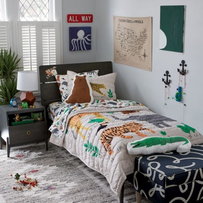 Charming Kids Bedroom Ideas With Jungle Theme To Try34