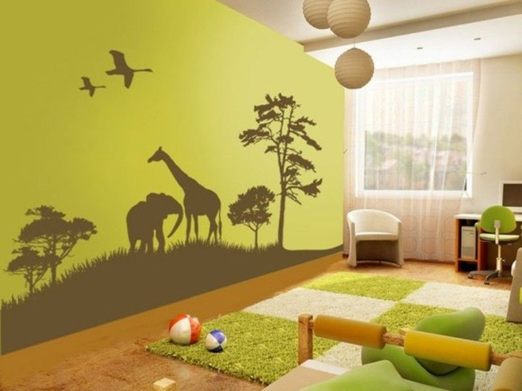Charming Kids Bedroom Ideas With Jungle Theme To Try39