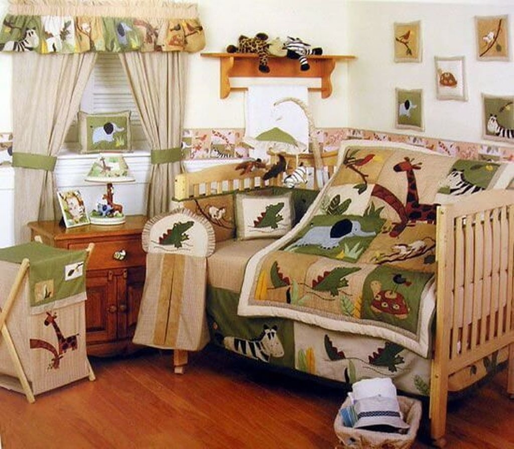 Charming Kids Bedroom Ideas With Jungle Theme To Try40