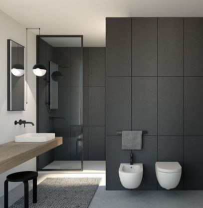 Cute Minimalist Bathroom Design Ideas For Your Inspiration34