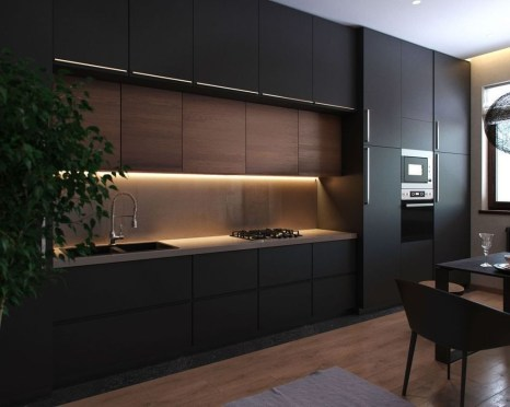 Elegant Black Kitchen Design Ideas You Need To Try32