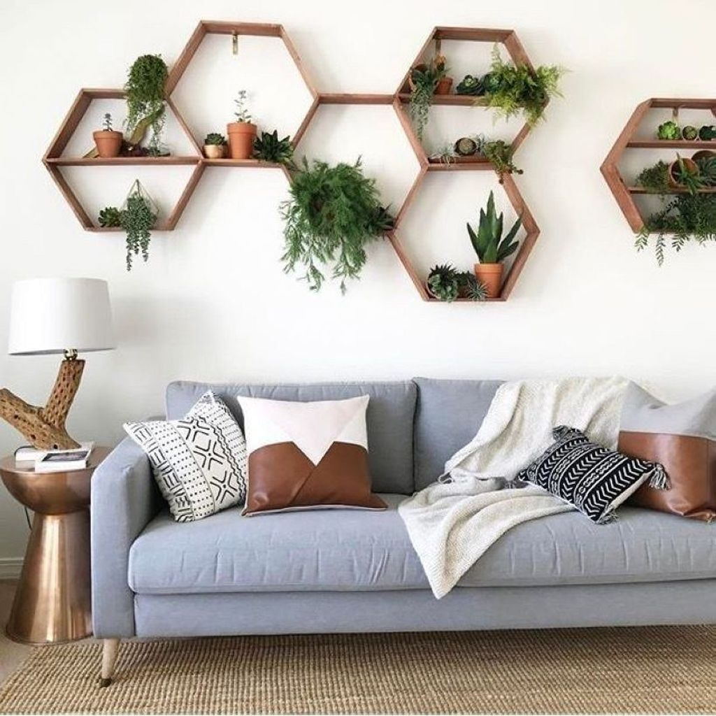 Latest Wall Decoration Ideas For Stunning Living Room35