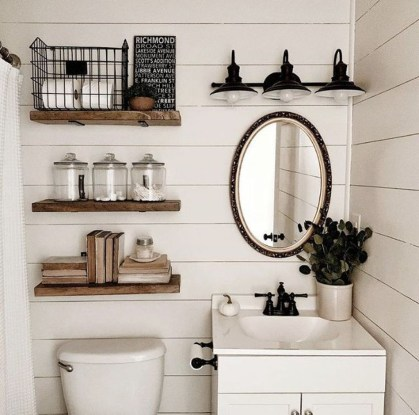 Modern Bathroom Floating Shelves Design Ideas For You11
