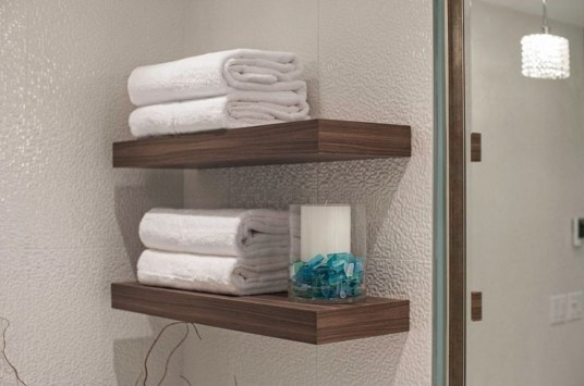 Modern Bathroom Floating Shelves Design Ideas For You30