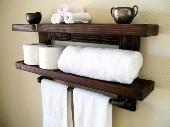Modern Bathroom Floating Shelves Design Ideas For You36