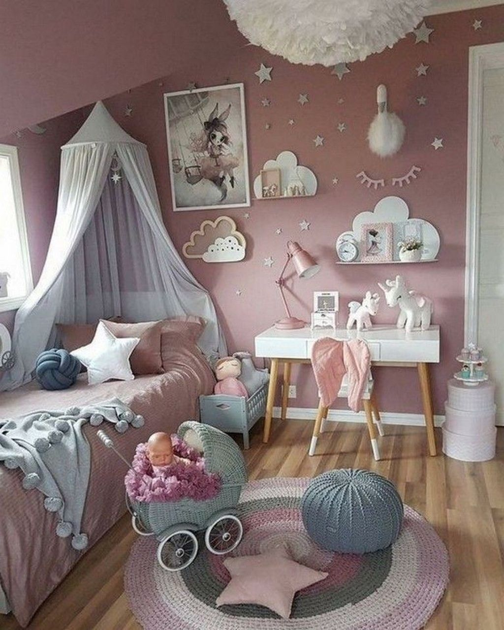 Pretty Princess Bedroom Design And Decor Ideas For Your Lovely Girl11