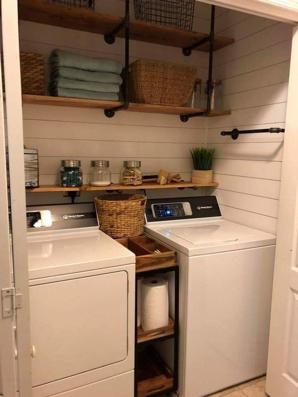 Cute Laundry Room Storage Shelves Ideas To Consider11