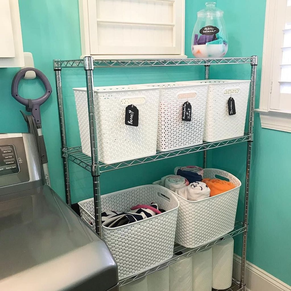 Cute Laundry Room Storage Shelves Ideas To Consider12
