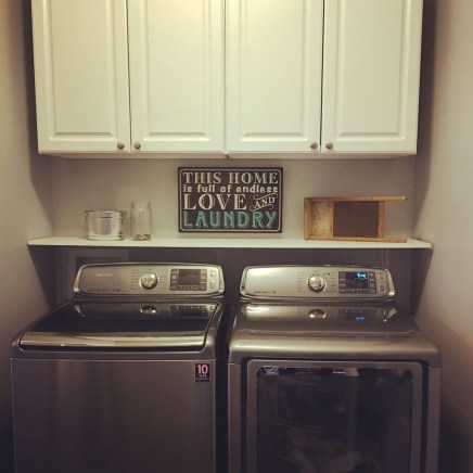 Cute Laundry Room Storage Shelves Ideas To Consider15