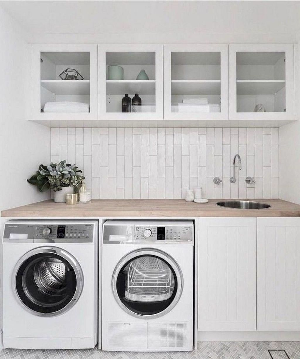Cute Laundry Room Storage Shelves Ideas To Consider17