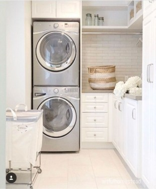 Cute Laundry Room Storage Shelves Ideas To Consider24