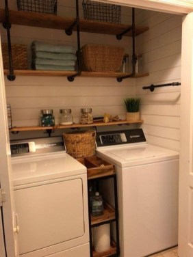 Cute Laundry Room Storage Shelves Ideas To Consider26