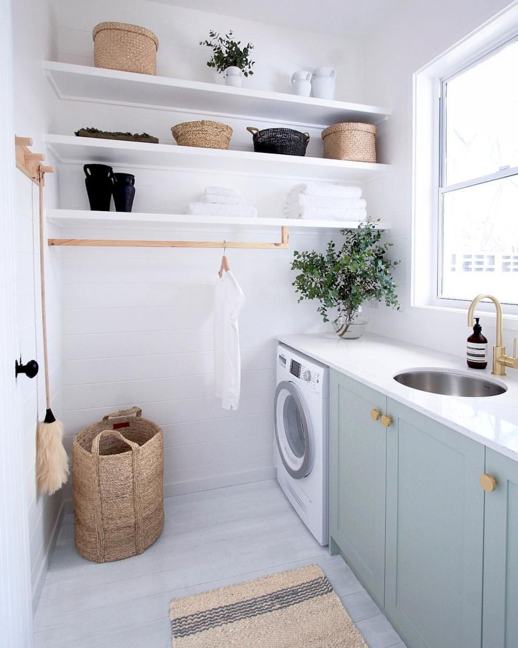 Whether you just want a refresh or are moving into a new house, consider and research these subjects when decorating each room of your home. Cute Laundry Room Storage Shelves Ideas To Consider29 ...