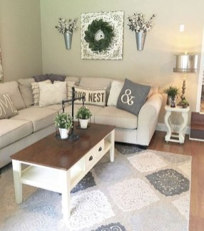 Gorgeous Country Farmhouse Decor Ideas For Living Room01