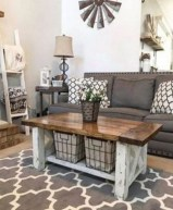 Gorgeous Country Farmhouse Decor Ideas For Living Room25