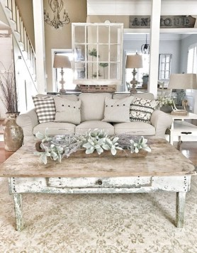 Gorgeous Country Farmhouse Decor Ideas For Living Room35