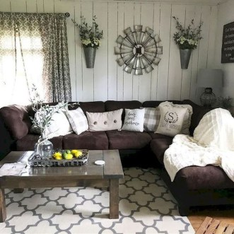 Gorgeous Country Farmhouse Decor Ideas For Living Room39