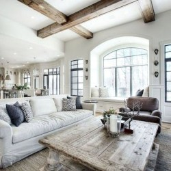 Gorgeous Country Farmhouse Decor Ideas For Living Room44