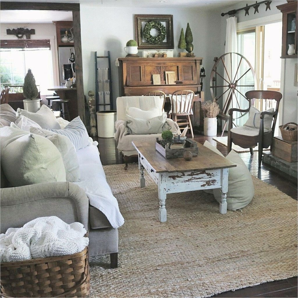 30+ Gorgeous Country Farmhouse Decor Ideas For Living Room ...