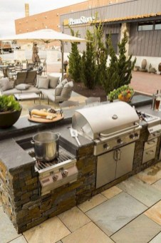 Newest Outdoor Kitchen Decoration Ideas To Make Cozy Kitchen14