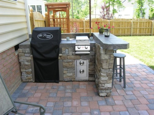 Newest Outdoor Kitchen Decoration Ideas To Make Cozy Kitchen20