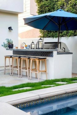 Newest Outdoor Kitchen Decoration Ideas To Make Cozy Kitchen21