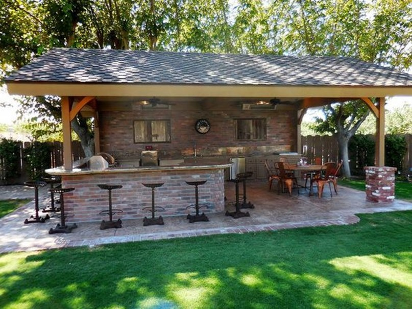 Newest Outdoor Kitchen Decoration Ideas To Make Cozy Kitchen23