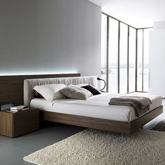 Casual Contemporary Floating Bed Design Ideas For You07