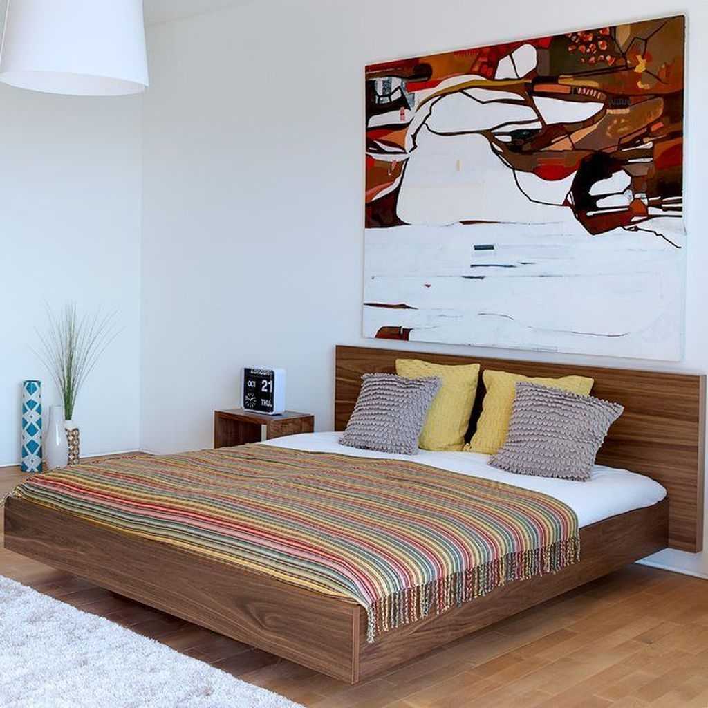 Casual Contemporary Floating Bed Design Ideas For You10