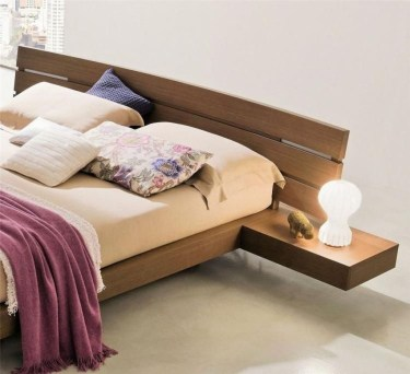 Casual Contemporary Floating Bed Design Ideas For You30