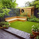 Chic Small Courtyard Garden Design Ideas For You29