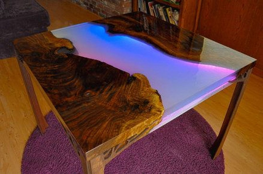 Classy Resin Wood Table Ideas For Your Furniture10