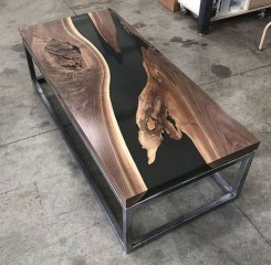 Classy Resin Wood Table Ideas For Your Furniture14