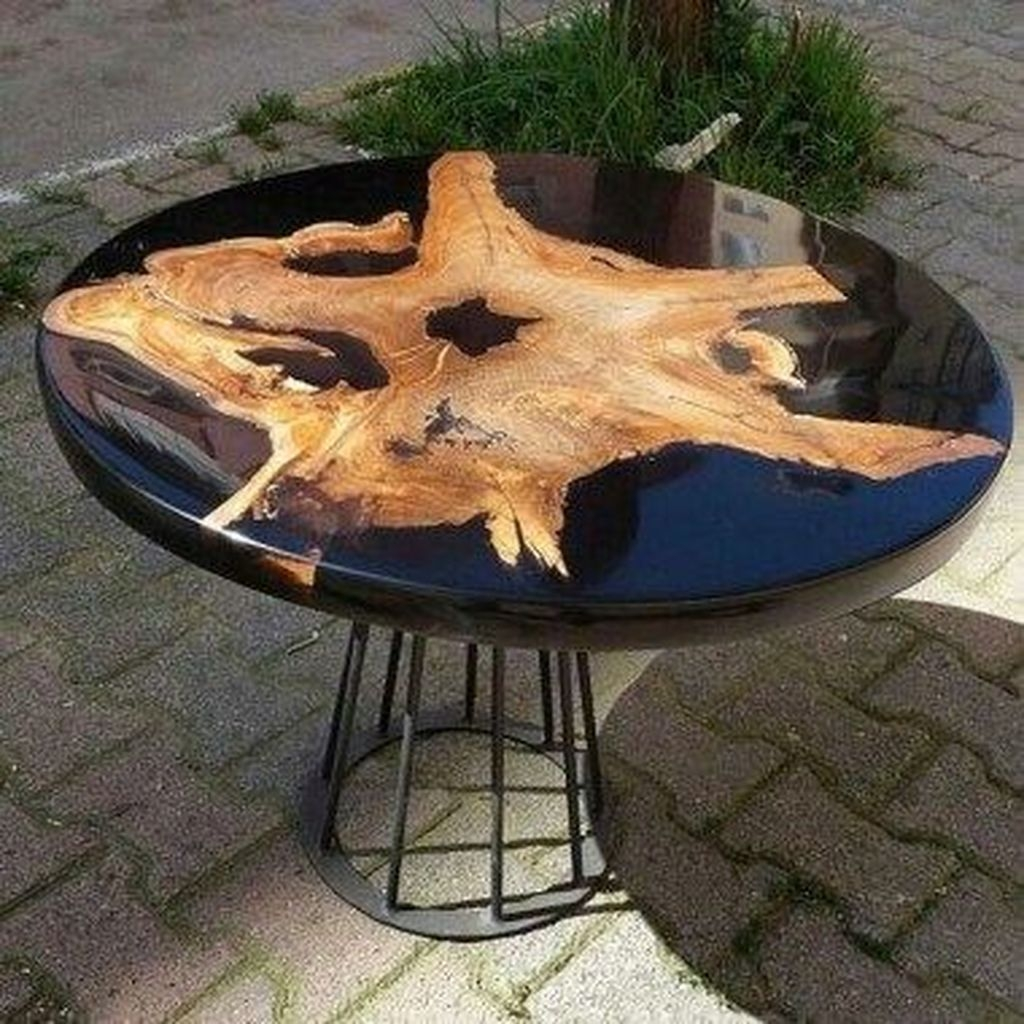 Classy Resin Wood Table Ideas For Your Furniture38