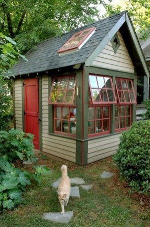 Incredible Studio Shed Designs Ideas For Your Backyard07