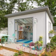 Incredible Studio Shed Designs Ideas For Your Backyard13