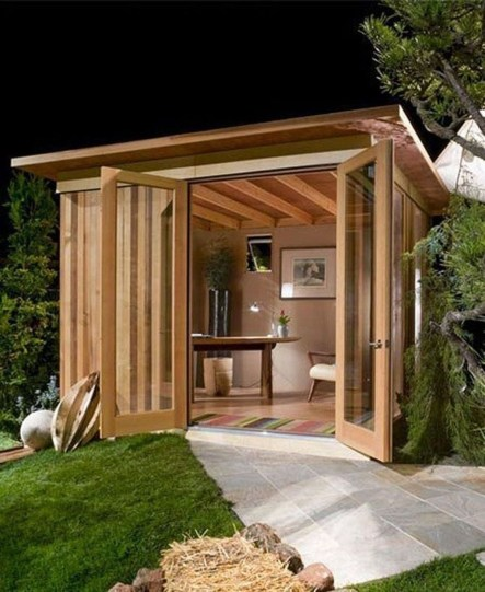 Incredible Studio Shed Designs Ideas For Your Backyard14