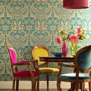 Stunning Dining Room Design Ideas With Multicolored Chairs35