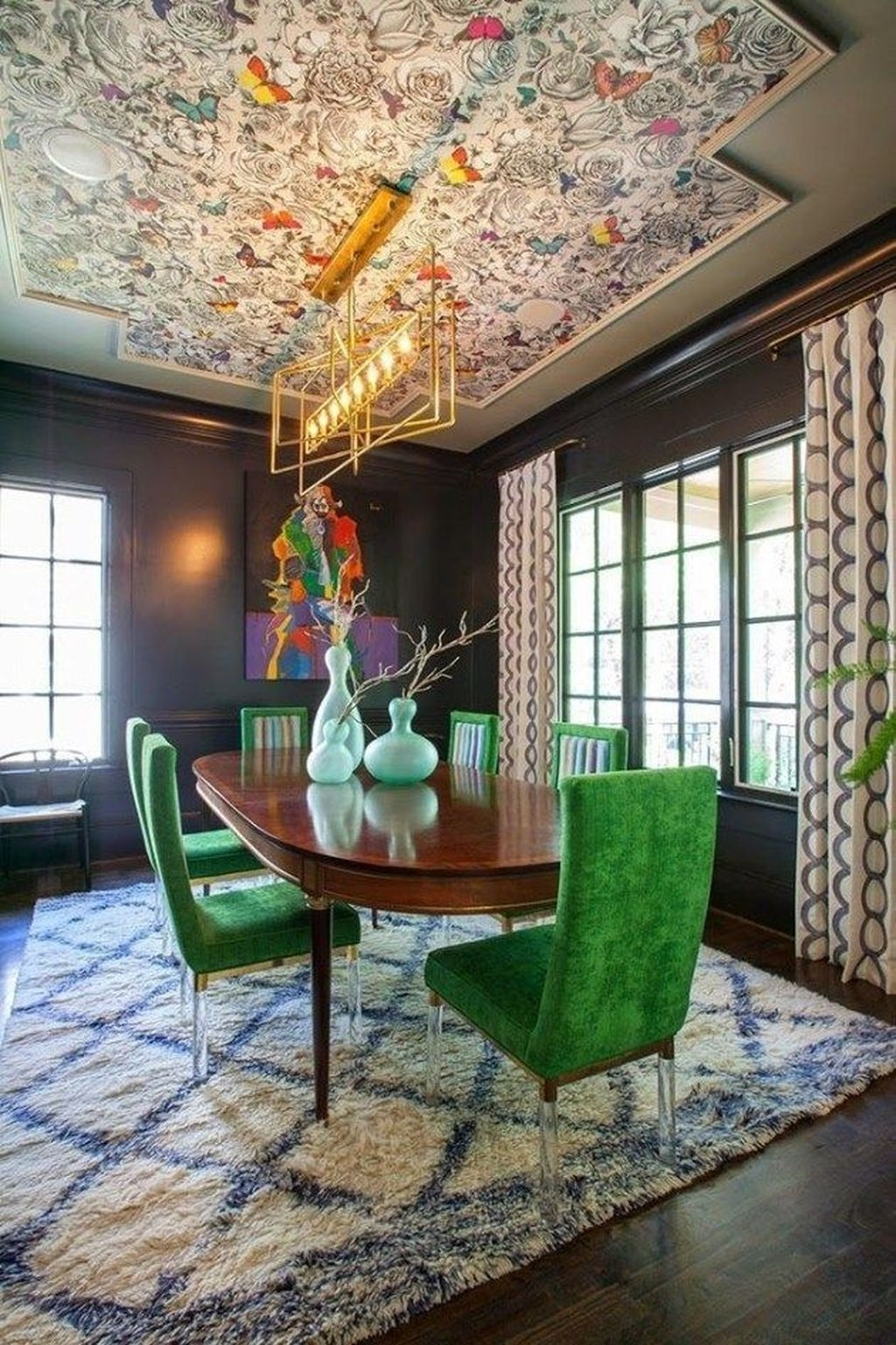 Unordinary Dining Room Design Ideas With Bohemian Style11