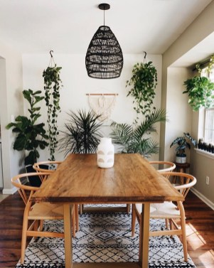 Unordinary Dining Room Design Ideas With Bohemian Style15