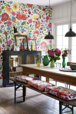 Unordinary Dining Room Design Ideas With Bohemian Style16