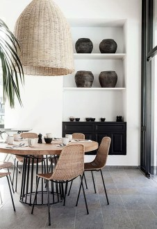 Unordinary Dining Room Design Ideas With Bohemian Style26