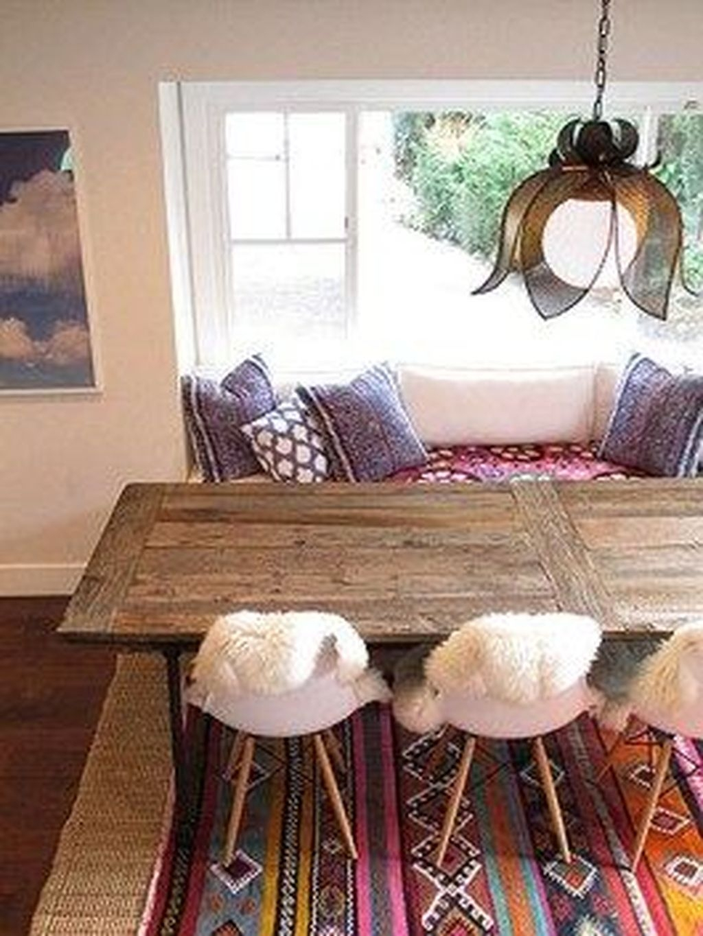 Unordinary Dining Room Design Ideas With Bohemian Style34