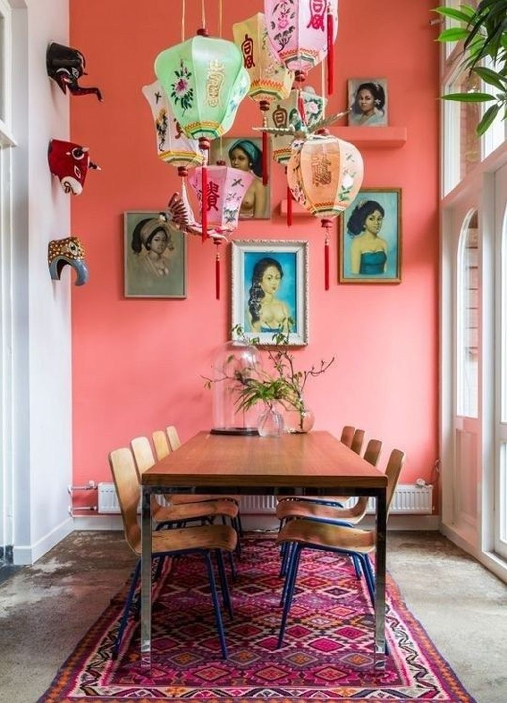 Unordinary Dining Room Design Ideas With Bohemian Style43