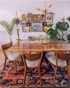 Unordinary Dining Room Design Ideas With Bohemian Style44