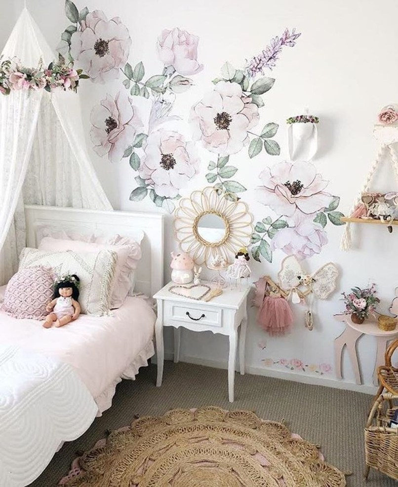 Vintage Bedroom Wall Decals Design Ideas To Try07